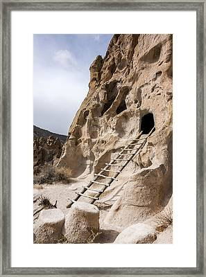 Bandelier Caveate - Bandelier National Monument New Mexico Framed Print