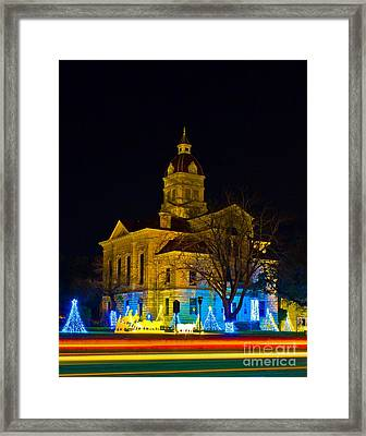 Bandera County Courthouse Framed Print