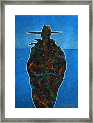 Framed Print featuring the painting Bandit Colors 1 by Lance Headlee