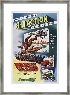 Bandit Island, Poster Art, 1953 Framed Print
