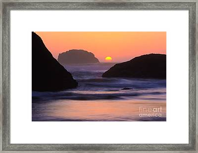 Bandon Beach Last Light Framed Print