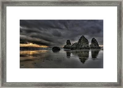 Bandon Beach Storm Framed Print by Thom Zehrfeld