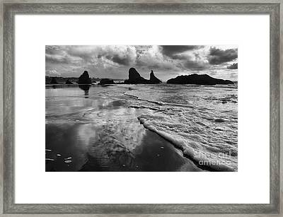 Bandon By The Sea High Tide Framed Print by Bob Christopher