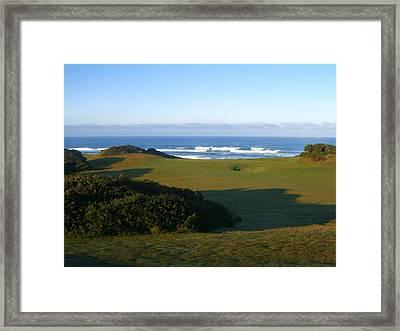 Bandon Dunes Hole #12 Framed Print by Scott Carda