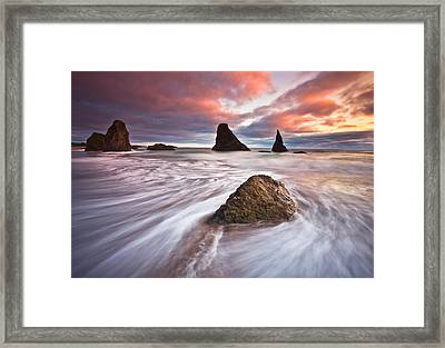 Bandon Evening Lights Framed Print