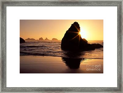 Bandon Golden Moment Framed Print by Inge Johnsson