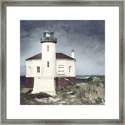 Bandon Lighthouse Framed Print by Carol Leigh