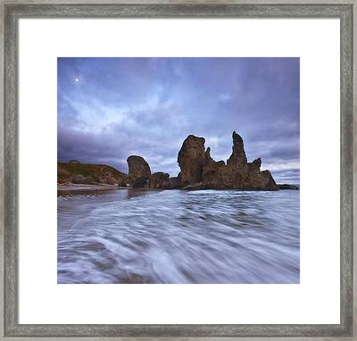 Bandon Moon Framed Print