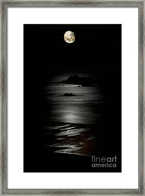 Bandon Moonset Framed Print
