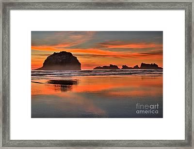 Bandon Orange Pastels Framed Print by Adam Jewell
