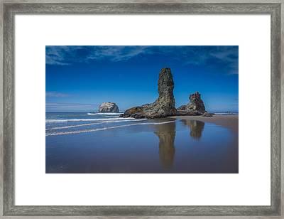 Bandon Oregon Sea Stacks Framed Print