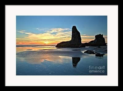 Oregon Coasline Framed Prints