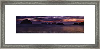 Bandon Panorama Framed Print