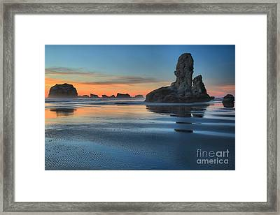 Bandon Stacks Framed Print by Adam Jewell