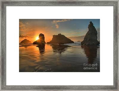 Bandon Sunburst Framed Print by Adam Jewell