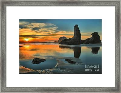 Bandon Sunset Framed Print by Adam Jewell