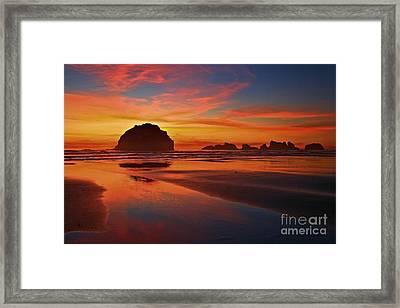 Bandon Sunset Spectacular Framed Print by Adam Jewell