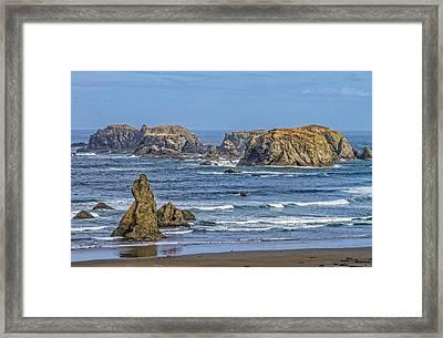 Bandon Beach Landscape Framed Print