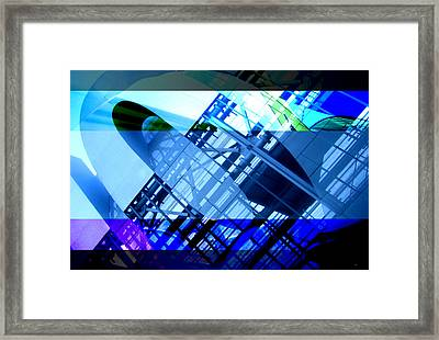 Bands - Structure Framed Print by Jon Berry OsoPorto