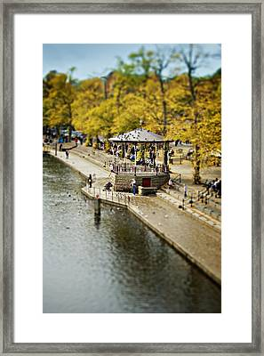 Bandstand In Chester Framed Print by Meirion Matthias