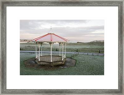 Framed Print featuring the photograph Bandstand In Winter by Jeremy Voisey