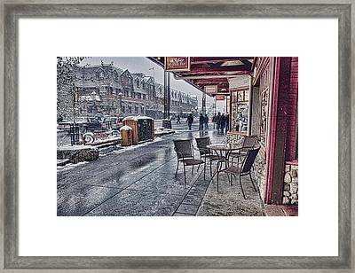 Banff Avenue Framed Print by Diane Dugas