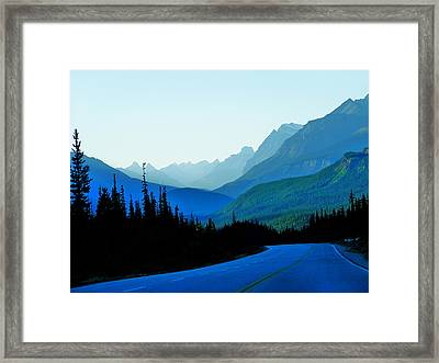 Framed Print featuring the photograph Banff Jasper Blue by Blair Wainman