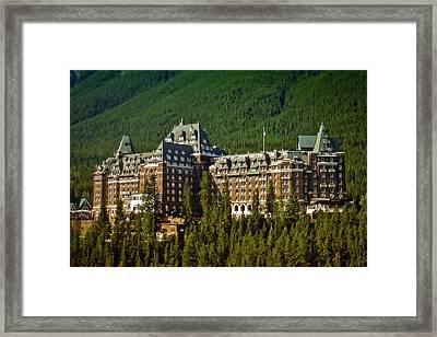 Framed Print featuring the photograph Banff Springs Hotel by Richard Farrington