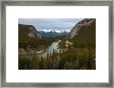 Banff Springs In Spring Framed Print