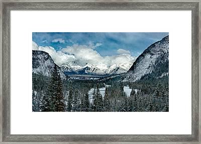 Banff Springs Valley In Winter Framed Print