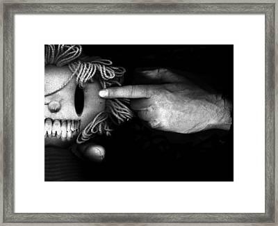 Bang Framed Print