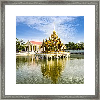 Bang Pa In Palace Thailand Framed Print by Colin and Linda McKie