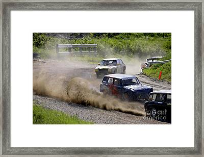 Banger Racing Framed Print by Ladi  Kirn