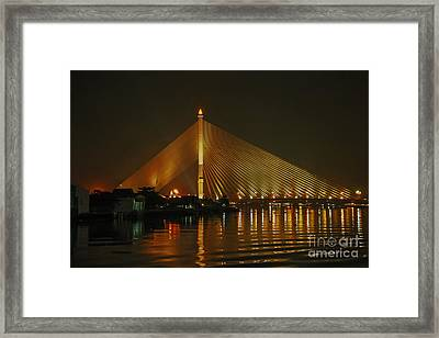 Bangkok By Night Framed Print