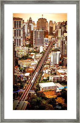 Bangkok City Of Angels Framed Print by Allan Rufus