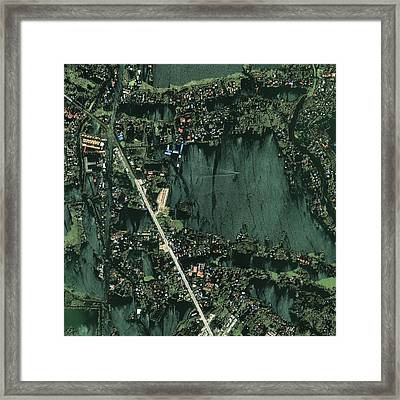 Bangkok Flooding 2011, Satellite Image Framed Print