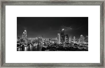 Bangkok Lightning Framed Print by Stefan Schilbe
