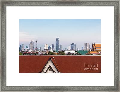 Bangkok Modern Vs Traditional Framed Print