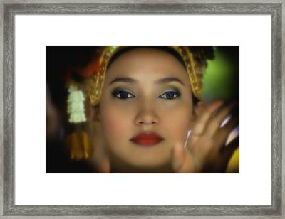 Bangkok Temple Dancer Framed Print