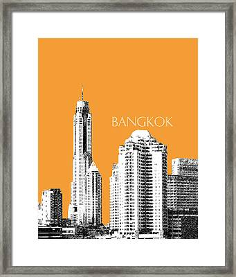 Bangkok Thailand Skyline 1 Framed Print by DB Artist