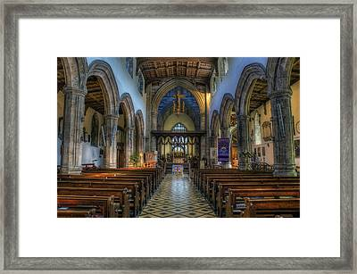 Bangor Cathedral V2 Framed Print by Ian Mitchell