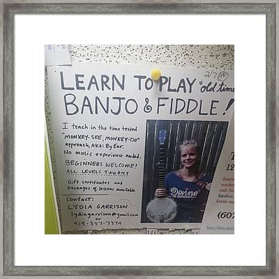 #banjo #fiddle Framed Print