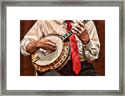 Banjo In Arms Framed Print by Linda Phelps