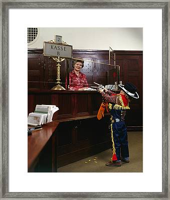 Bank Heist Framed Print by Jan W Faul