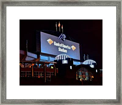 Bank Of America Panthers Stadium Framed Print by Frozen in Time Fine Art Photography
