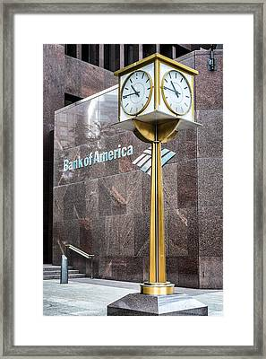 Bank Of American Building In Boston Framed Print
