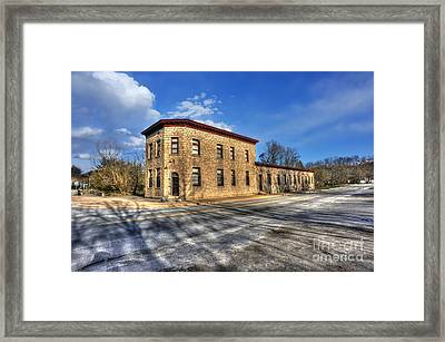 Bank Of Glen Jean Framed Print by Dan Friend