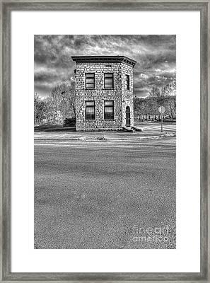 Bank Of Glen Jean Wv Framed Print by Dan Friend