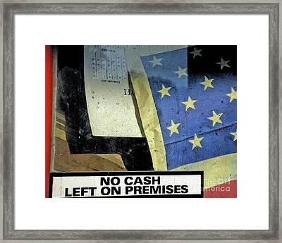 Bankrupt America Framed Print by Joe Jake Pratt