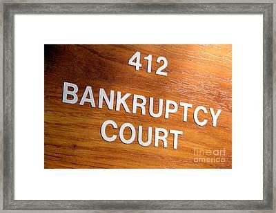 Bankruptcy Court Framed Print by Olivier Le Queinec